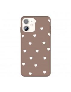 Coque iPhone 11 Coeur Marron