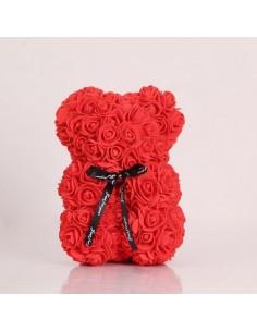 Ours en rose -rouge-