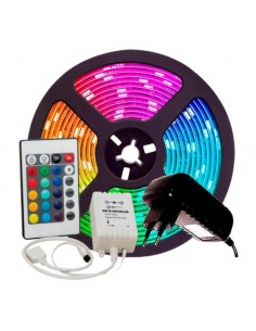 Ruban LED RGB 15 couleurs - 5m